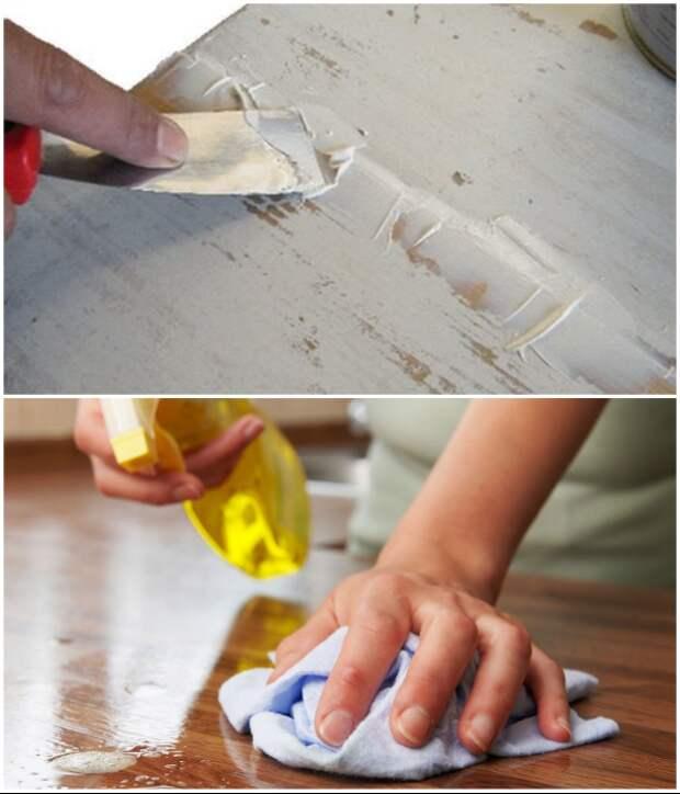 Если есть неровности и повреждения их нужно зашпаклевать, а после зашкурить и обезжирить поверхность. | Фото: oboitop.com.ua/ berkem.ru.