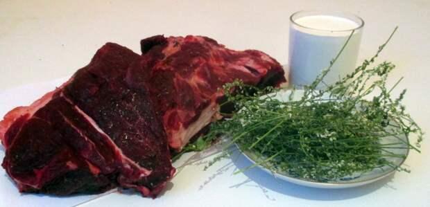 Блюдо из медвежьего мяса