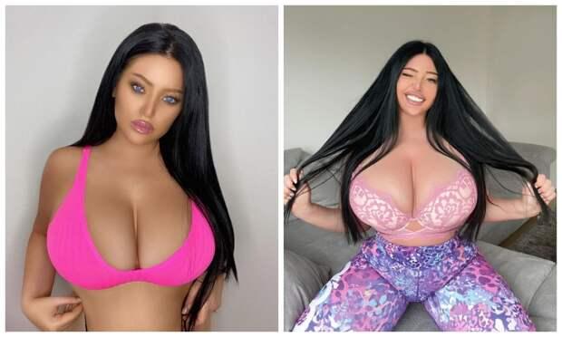 Все свое: модель из Хорватии утверждает, что ее грудь выросла из-за набора веса