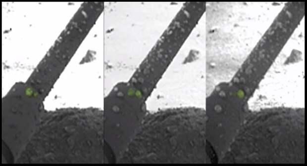 Марсианская вода накапливается на посадочной стойке спускаемого аппарата Phoenix Mars
