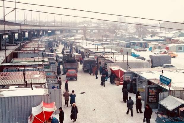 Омск, гооодская оптовк, 1990-е