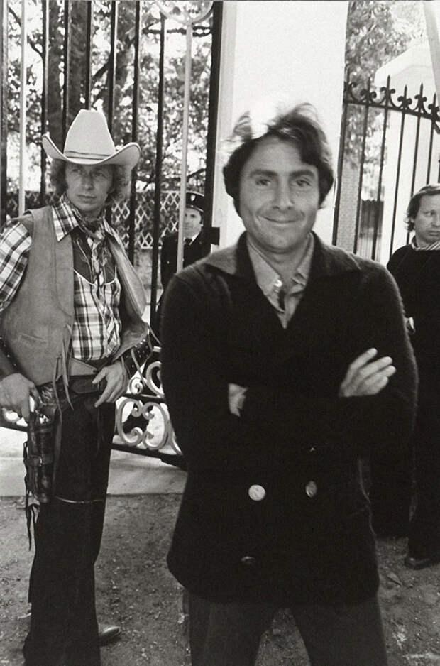 Франсис Вебер и Пьер Ришар на съемках фильма «Игрушка», 1976 год