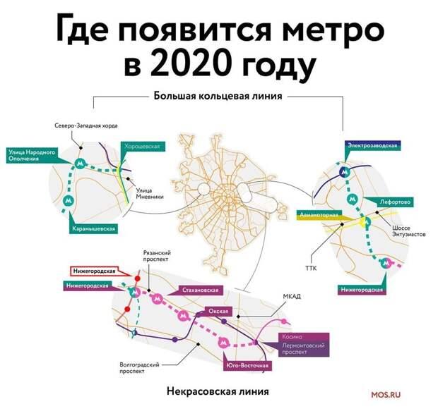 9 новых станций московского метро, которые откроют в 2020 году