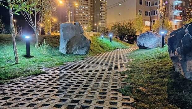 Работы в саду камней Памяти и Славы в Подольске полностью завершат летом
