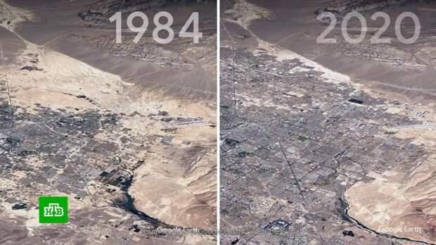 Сервис Google показал изменения Земли за последние 37 лет