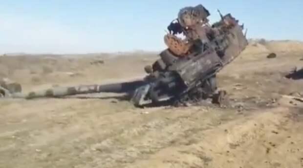 В Нагорном Карабахе впервые полностью уничтожен танк Т-90С