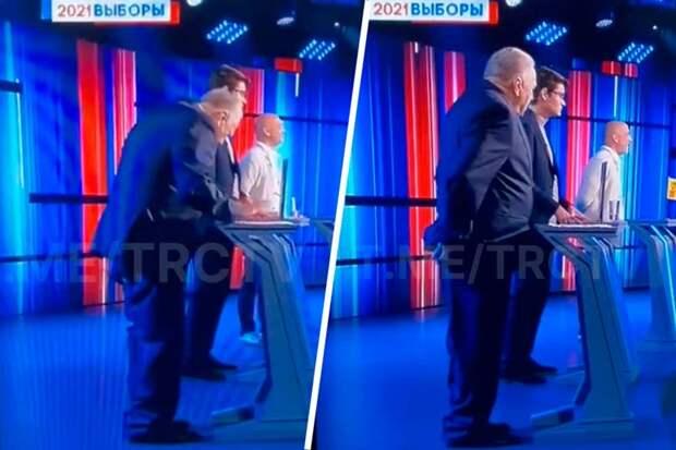 Перед тем, как отправится в политическое небытие, Жириновский потерял штаны на дебатах