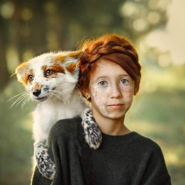 Сказочные фотографии Анастасии Добровольской объединяют людей и зверей