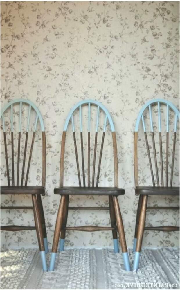 Частичный перекрас... стульев