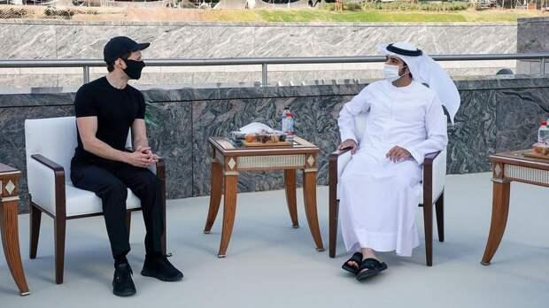 Павел Дуров пообщался с наследным принцем Дубая о стартапах