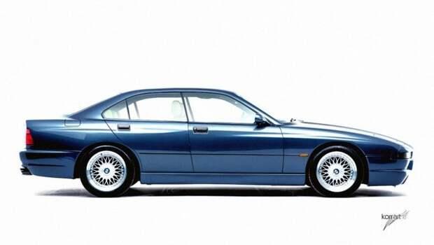 BMW 840i авто, автодизайн, автомобили, дизайн, фотомонтаж, фотошоп, юмор, янгтаймер