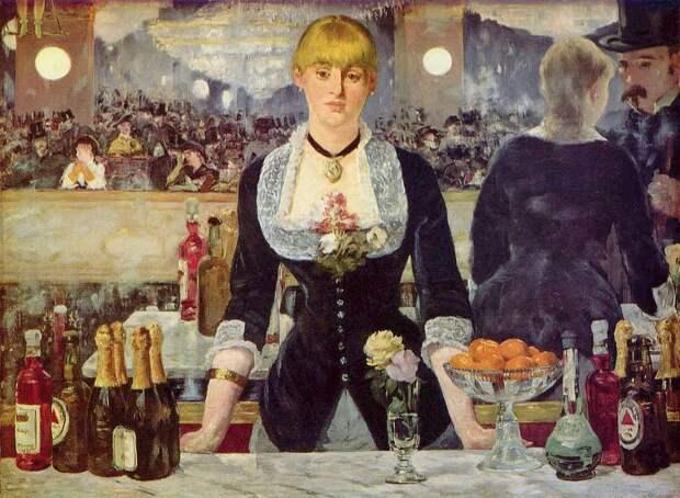 """Эдуар Мане «Бар в """"Фоли-Бержер""""» 1882Хранится в Институте искусства Курто в Лондоне."""