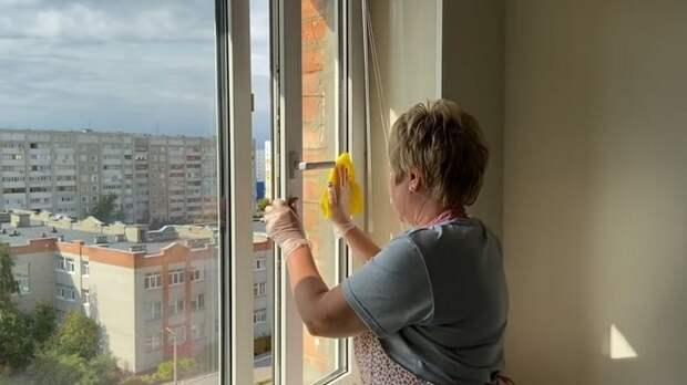 Моем окна и полы секретным способом. Ни пыли ни грязи долгое время