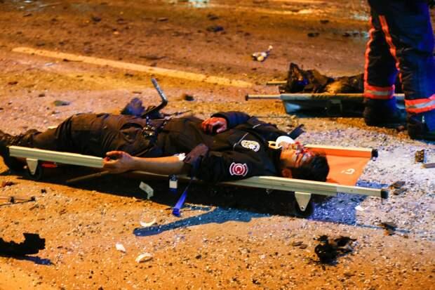 Пострадавший в результате теракта в Стамбуле.