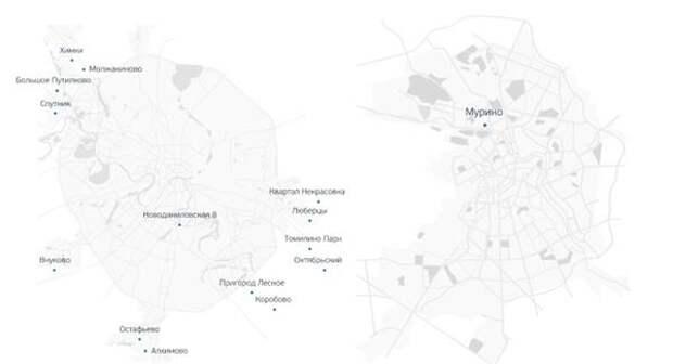 География строительства. Москва и МО, Ленинградская область