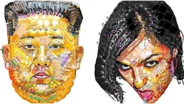 Залипательные картины знаменитостей из смайлов