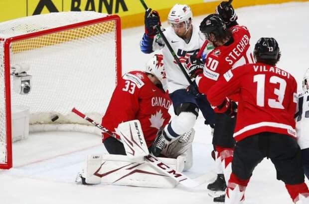 Сборная США победила Канаду в матче ЧМ по хоккею
