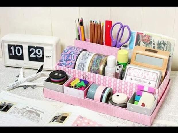 Органайзеры для рабочего стола (подборка, DIY)