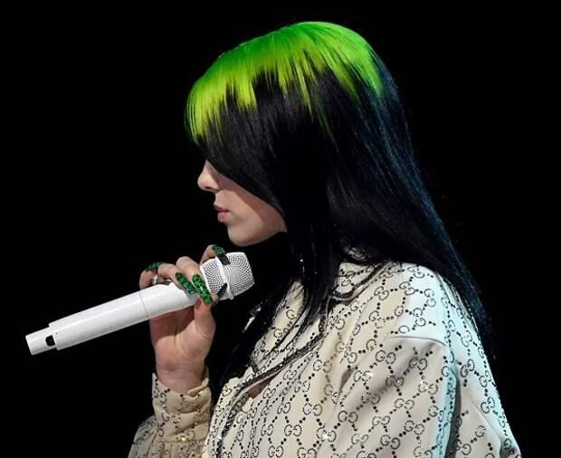 Билли Айлиш цвет волос