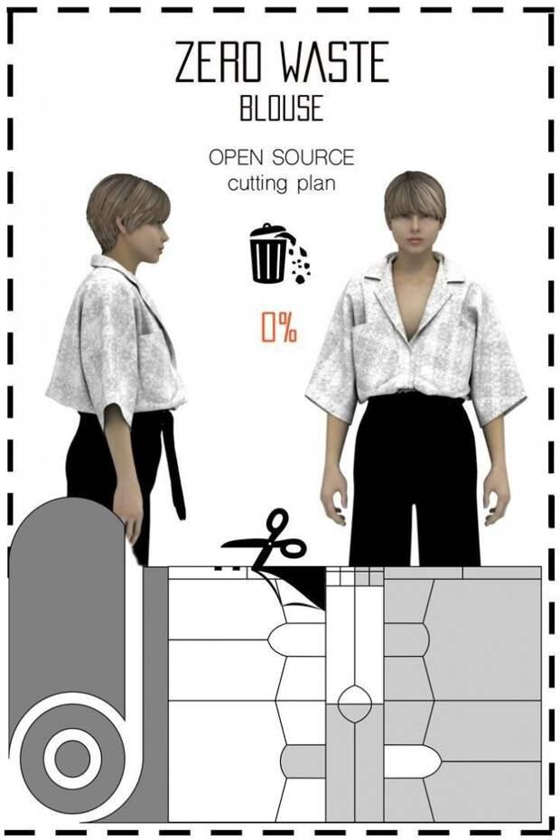 Подборка безотходного кроя одежды