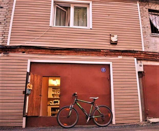 Фотоподборка: двухэтажные гаражи