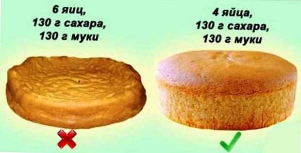 Для вкусного, пышного и мягкого бисквита соблюдайте все эти 10 правил