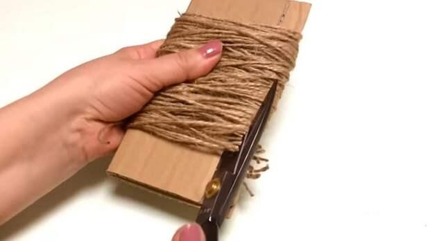 Моток джутовой веревки превращаем в стильный ковер