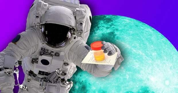 Для строительства базы на Луне будет использоваться моча космонавтов