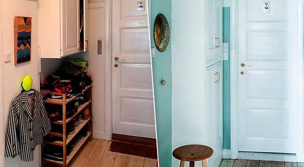 До и после: крутая переделка очень маленького коридора