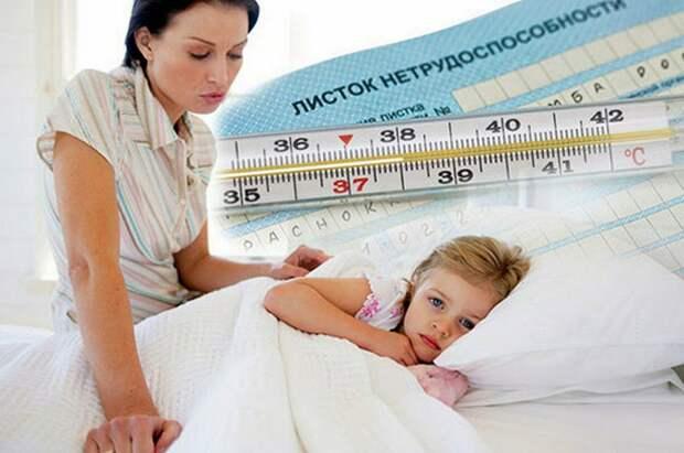 Новая система оплаты больничных листов по уходу за детьми до 7 лет