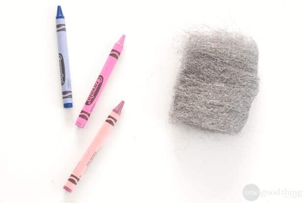 Отчистить следы восковых мелков Хозяйке на заметку, голь на выдумки, советы, хитрости