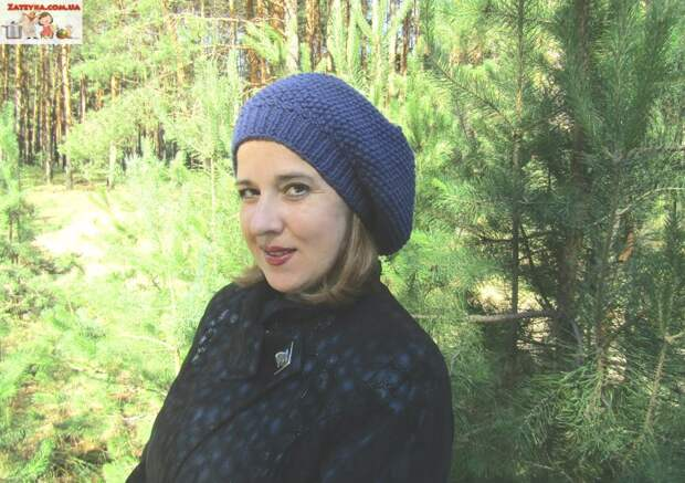 Вяжем зимнюю объёмную женскую шапку жемчужным узором