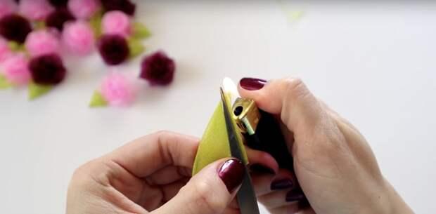 Шикарные декоративные розочки за 1 минуту
