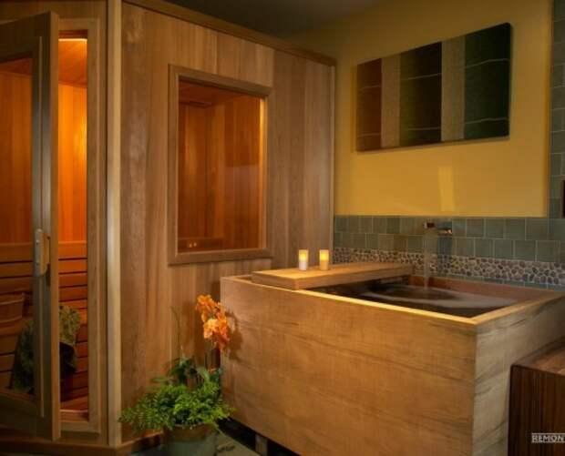 Уютная ванная в восточном стиле