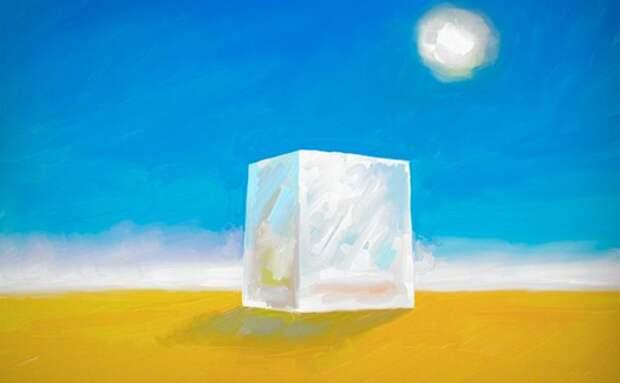 Тест в картинках куб в пустыне