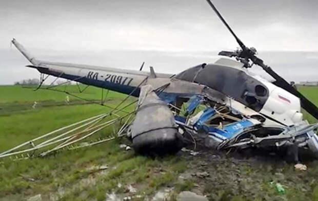 Под Краснодаром разбился вертолёт Ми-2