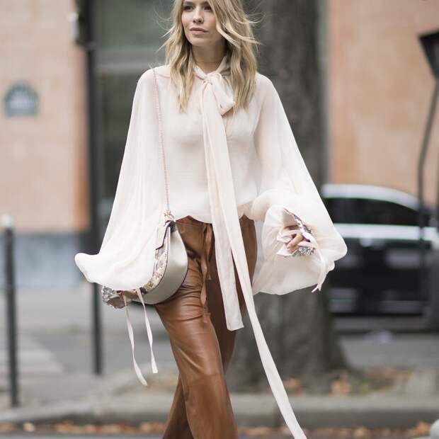 С чем носить кожаные брюки: 14 образов в разных стилях