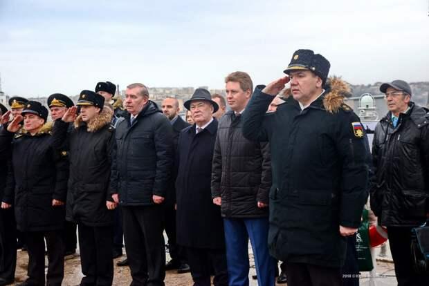 Подъём флага на МРК Орехово-Зуево