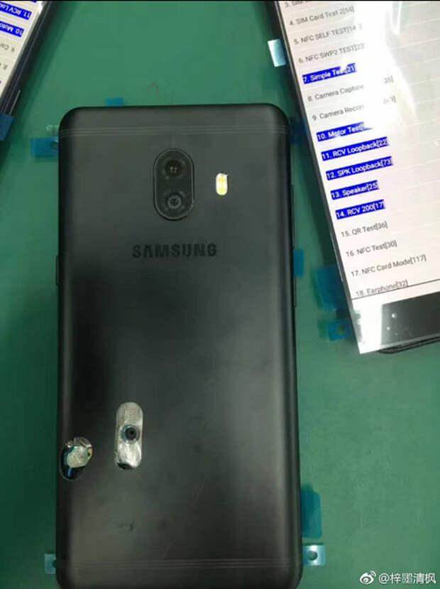 Samsung Galaxy C10 с двойной камерой замечен на «живых» фотографиях