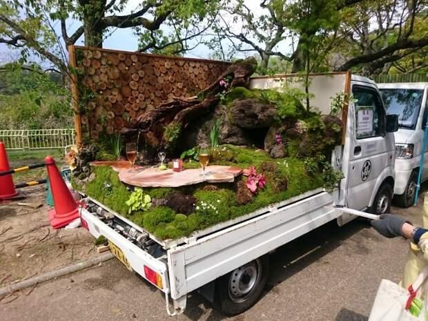 Передвижные сады в грузовиках - такая мода могла появиться только в Японии!