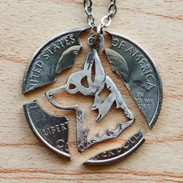 Медальон из монеты своими руками
