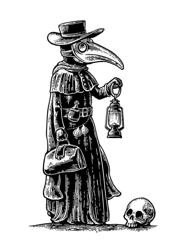 Почему чумные доктора носили «носатые» маски? болезнь, возбудитель, доктор, защита, маска, почемучка, трава, чума