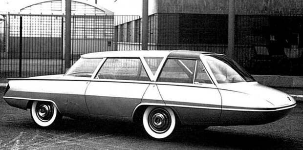 Несмотря на длинный передний свес, «Селена» относилась к вагонной компоновке. 1959 год авто, автодизайн, автомобили, дизайн, интересные автомобили, минивэн, ретро авто