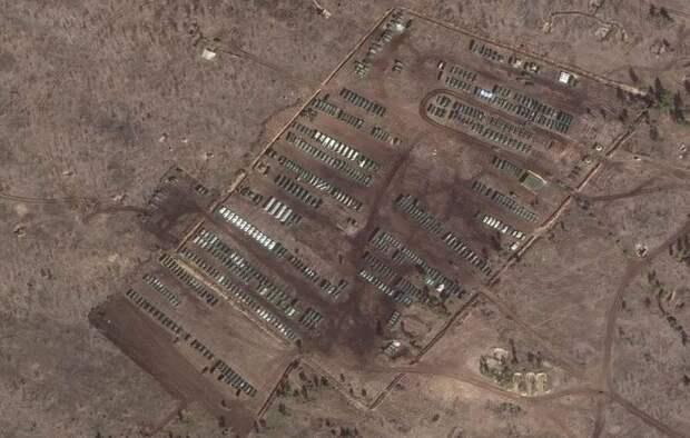 Полевой лагерь российских военных в Воронежской области показали из космоса
