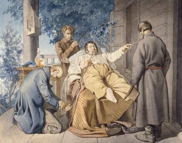 """Константин Трутовский """"Отдых помещика"""" (1853)"""