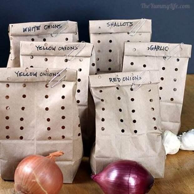 пакеты с перфорацией для хранения овощей
