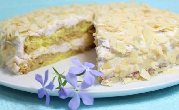 """Торт """" Королева Снежная """". Несложный рецепт приготовления"""