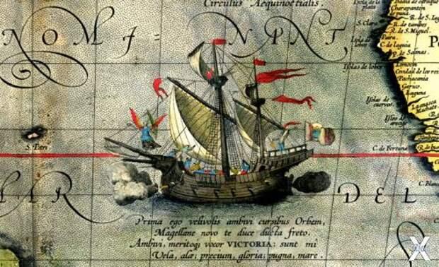 """Каравелла """"Виктория"""" - единственный корабль, полностью завершивший кругосветное плавание"""