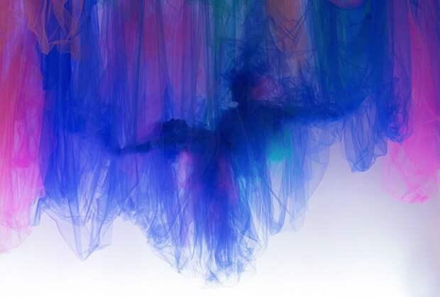 Удивительные работы созданы не красками, а полосками ткани — тюлем