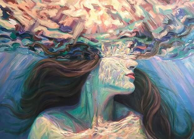 Девушки вводе: летние картины калифорнийской художницы Изабель Эмрих